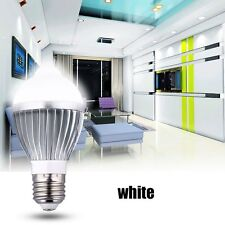 Light Sensor White 5W Bulb Auto Control LED Energy-saving Motion PIR E27 Lamp