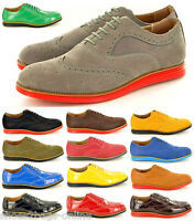 New Mens Casual Formal Lace Up Brogue Designer Shoes In UK Sizes 6 7 8 9 10 11