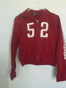 Boy's Abercrombie & Fitch Red Sweatshirt Hoodie Size XL