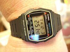 VERY RARE Superb Vintage 1984 Casio W-17 [181] Multi Alarm Marlin Mvt LCD Watch!