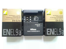 2 x EN-EL9a  Batteries + MH-23 charger For Nikon DSLR D60 D40 D40x D5000 D3000