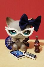 🎀 ACCESSORIES for LITTLEST PET SHOP Clothes  Custom NERD BLUE *CAT NOT INCLUDED