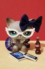 🎀 Littlest Pet Shop clothe LPS 7 ACCESSORIES Custom NERD BLUE CAT NOT INCLUDED