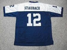 ROGER STAUBACH Unsigned Custom Dallas TG Blue Sewn New Football Jersey Sze S-3XL