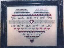 Cross Stitch Destiny SEEKING HEART Cross Stitch/SS Chart w/ Charm ~ Expression