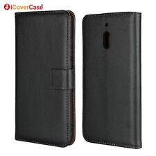 Genuine Leather Wallet Flip Stand Case Cover For Nokia 2.1