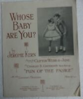 Whose Baby are You Notenheft Jerome Kern Gates Noten Klavier selten B9222