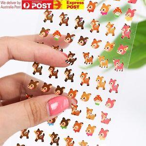 KOREA MADE Nail Stickers Manicure Kids Scrapbooking DIary Deco Small Mini Cute