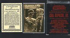 CAL RIPKEN JR 1995 Bleachers 23 Kt Gold Card -  #d / 25,000 in box w/ COA