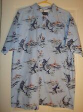 JACK/O'NEIL~mans~MACYS/BLUE/MULTI/FISHING/BUTTON/DOWN/SHIRT! (X/L) N/W/T! $55.00