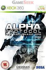 ALPHA PROTOCOL - XBOX 360 BRAND NEW FREE DELIVERY