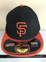 San Francisco Giants black On Field New Era 59Fifty Hat New 7 3/4 NE Tech