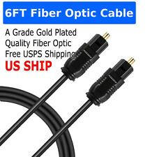 6FT Digital Fiber Optic Audio Cable Cord Optical SPDIF TosLink for TV DVD AMP