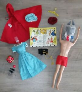 """Vintage Barbie Little Theater """"Little Red Riding Hood"""" #0880 Costume (1964)"""
