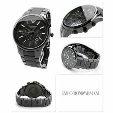 NEW GENUINE EMPORIO ARMANI AR1451 BLACK CERAMICA CHRONOGRAPH MEN'S WATCH UK