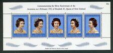 New Zealand Souvenir Sheet:1977 Silver Jubilee of Elizabeth II,SC#620 MNH& fault