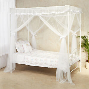 Kids Bed Canopy for Girls Mosquito Net Bed Tent Princess White Bedroom Birthday