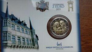 "Luxembourg 2021  2 euros coincard BU ""mariage jean/joséphine"""