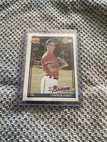 Topps 1991 Chipper Jones Atlanta Braves #333 Baseball Card Excellent Condition