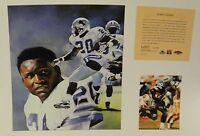 Barry Sanders Detroit Lions NFL11x14 Print Hall Of Fame Oklahoma St.#1 HOF