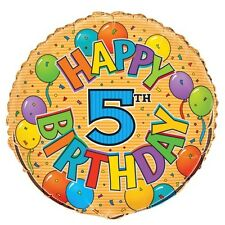 "5th BIRTHDAY 45cm (18"") FOIL BALLOON"