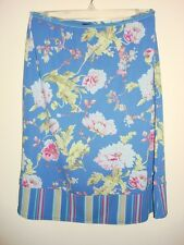Gap A line skirt blue pink large flowers design Size XS new