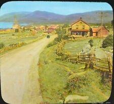 Small Rustic Village    Quebec  Canada -  MAGIC LANTERN GLASS SLIDE