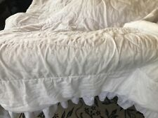 JCPenney Embroidered Eyelet Queen Comforter White Quilt  Cotton Blend White