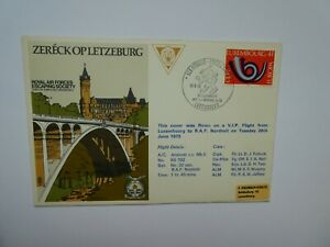 Luxembourg RAF Escaping Society 1973 FDC