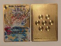Dragonball Goku Ultra Instinct Metal Dragonball Z Card