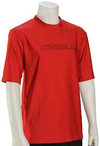 O'Neill Kid's Basic Skins SS Surf Shirt - Red - New
