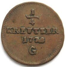 1/4 Kreuzer 177? G, RDR, Maria Theresia (1740-1780)