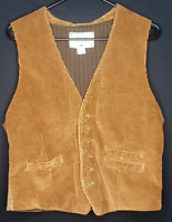 Vintage Corduroy Old Navy Womens Size Medium Brown Back Strap Button Vest