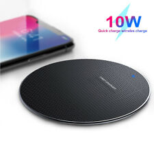 Wireless Qi Fast Charger Charging Stand Dock Pad For Samsung S10/S9 iPhone 8X XS