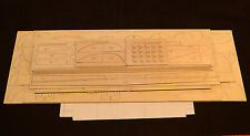 "Large Scale Douglas C-124 GLOBEMASTER Laser Cut Short Kit & Plans 87"" Wingspan"