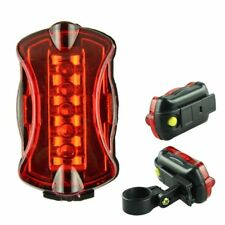 Waterproof Ultra Bright 5 LED Rear Back & Front Lamp Tail Light For Bicycle