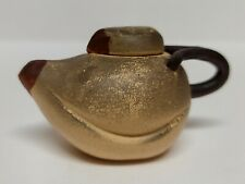 Antique Miniature Chinese Pottery Teapot Unusual Shape