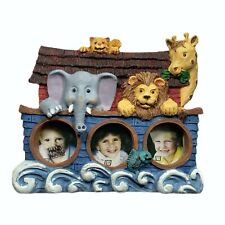 Fiji Graphics Noah's Ark Mini Collection Picture Frame Animals 3 Photo Slots New