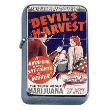 Vintage Poster D304 Flip Top Oil Lighter Wind Resistant Flame Good Girl Reefer