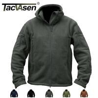 TACVASEN Mens Jackets Tactical Fleece Jackets Hoodie Police Coat Military Jacket