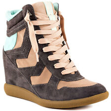 Sam Edelman Bennett Chaussures Femme 41 Baskets Luxe Compensé Wedge Sneakers New
