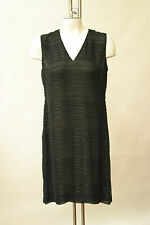 Ungaro Black beaded Cocktail Dress LBD Sheer NWT 6 40 Glass beads heavy