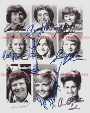 THE BRADY BUNCH SHOW FULL CAST ALL 9 SIGNED AUTOGRAPHED 8x10 RP PHOTO