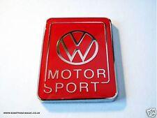 Enamel Chrome Red VW MOTOR SPORT Car badge Volkswagen Golf Polo