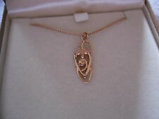 Clogau 9ct Rose Welsh Gold Myth & Romance Diamond Pendant