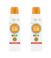 2pz L'OREAL SUBLIME SUN KIDS IP 50 spray protezione bambini alta 150ml NUOVI