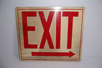 """VINTAGE METAL EXIT SIGN BY READY MADE SIGN CO. NEW YORK 14"""" X 12"""""""