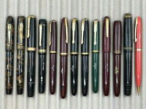 Vintage Danish HOOVER Fountain Pen Collection 13 Item Lot Denmark Copenhagen Pen