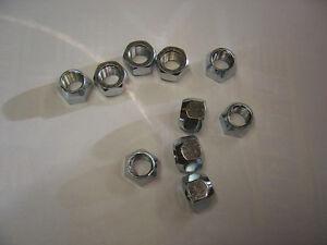 10 Left Hand Thread 7/16-20 Lug Nuts Mopar Dodge A-Body Plymouth LH Lugnut 60s