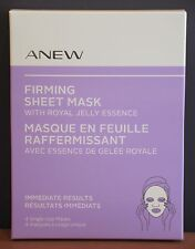 Avon Anew Firming Sheet Mask With Royal Jelly Essence 4 Count $30 NIB